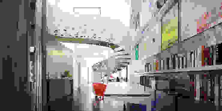 Koridor & Tangga Gaya Eklektik Oleh de-cube Eklektik