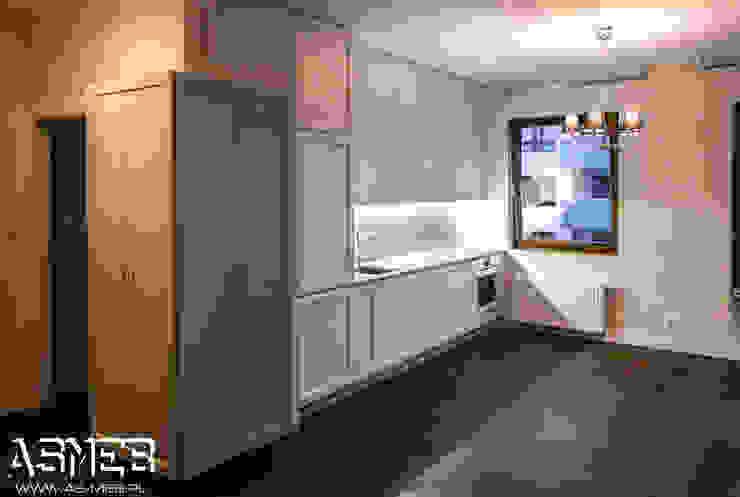 One-Wall Kitchen Skandynawska kuchnia od AS-MEB Skandynawski Płyta MDF