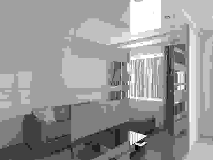 Квартира – студия в пос. Шушары Гостиная в стиле минимализм от Студия дизайна интерьера 'SUN' Минимализм