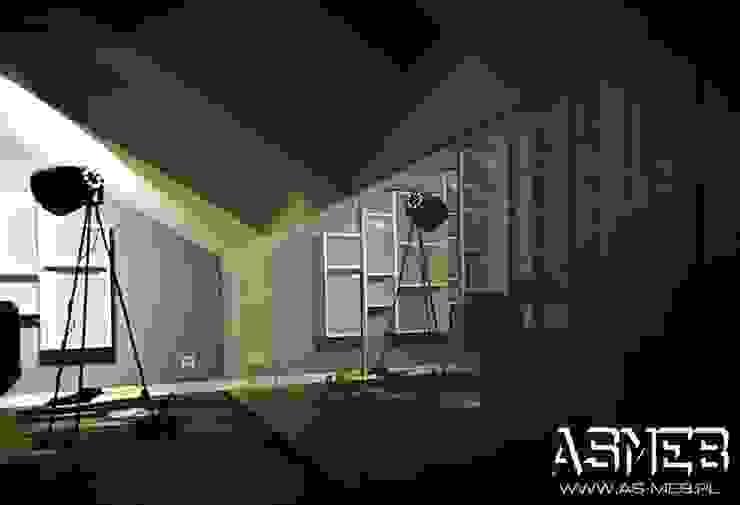 Biblioteka wisząca Minimalistyczne domowe biuro i gabinet od AS-MEB Minimalistyczny Płyta MDF