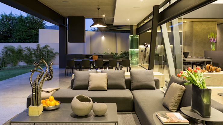 Kloof Road House Nico Van Der Meulen Architects Modern balcony, veranda & terrace