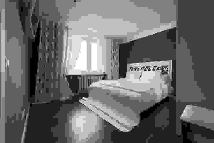 Маленькая квартира для аренды Спальня в скандинавском стиле от Порядок вещей - дизайн-бюро Скандинавский