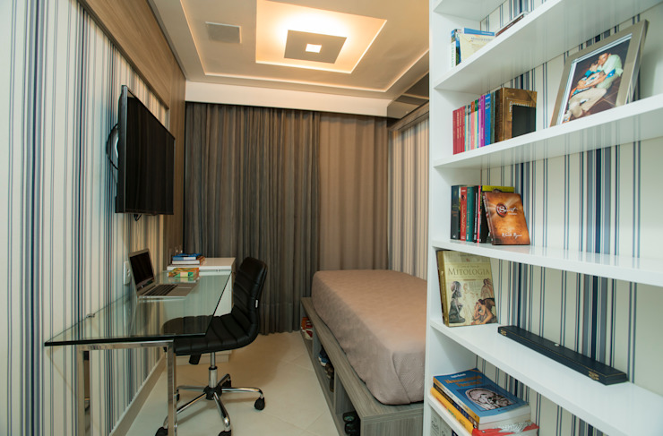 Chambre de style  par Alexandre Magno Arquiteto, Éclectique