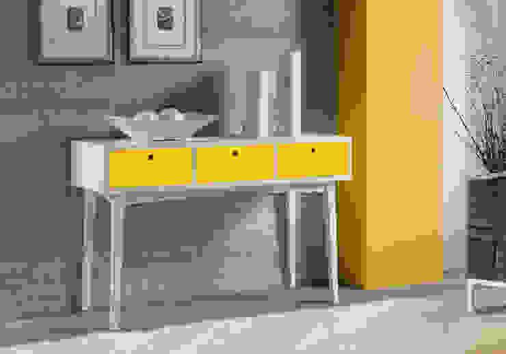 Aparador Vintage - Branco/Amarelo por Sun House Móveis e Decorações Moderno