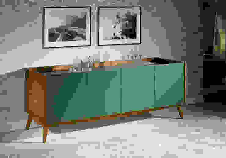 Buffet Novita - Amendoa/Verde por Sun House Móveis e Decorações Moderno