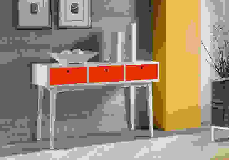 Aparador Vintage - Branco/Vermelho por Sun House Móveis e Decorações Moderno