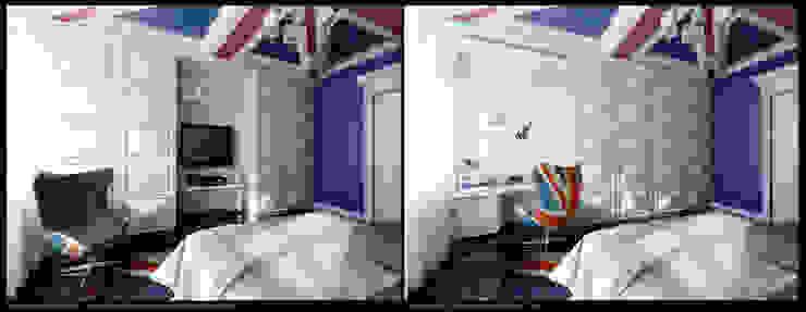 Квартира на Оболонской набережной Киева Детские комната в эклектичном стиле от 27Unit design buro Эклектичный