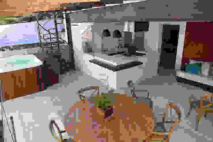 Materiais Naturais e Reciclados Varandas, alpendres e terraços modernos por Ecoeficientes Moderno
