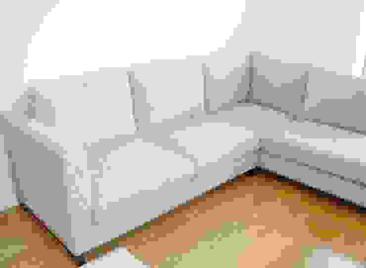 Renato Fernandes - arquitetura SalonesSofás y sillones Textil Gris