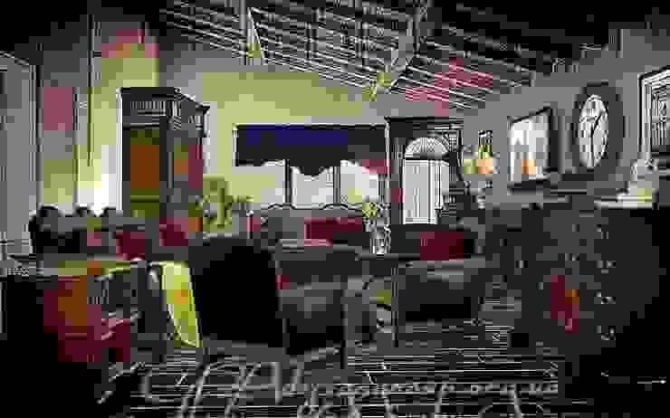 Уют Гостиная в колониальном стиле от GNAdesigngroup Колониальный
