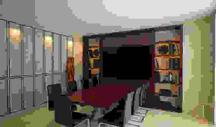 Sala de juntas de Taller 03 Moderno Madera Acabado en madera