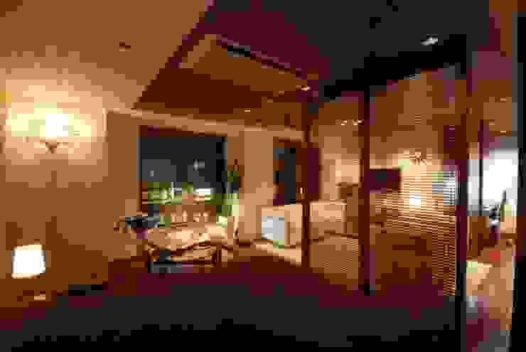 アジアリゾート 和風デザインの リビング の 株式会社 中村建築設計事務所 和風