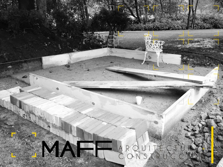 Casa Méndez Jardines modernos de MAFF Arquitectura + Construccion Moderno