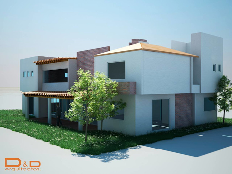 Proyectos y Espacios Casas modernas de D&D Arquitectos Moderno