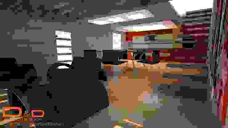 Proyectos y Espacios Salones modernos de D&D Arquitectos Moderno