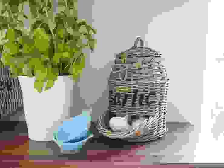 de Homestyle & Garden Rural Ratán/Mimbre Turquesa
