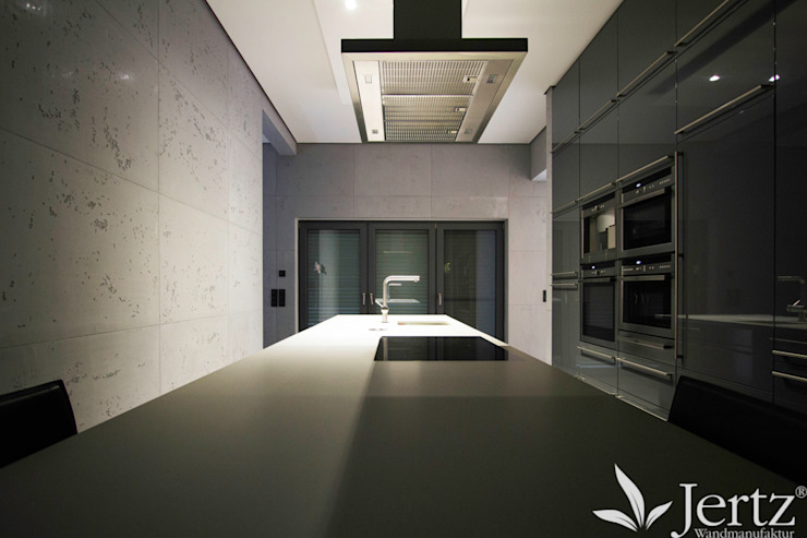 Wandgestaltung in Beton Moderne Küchen von Wandmanufaktur Modern