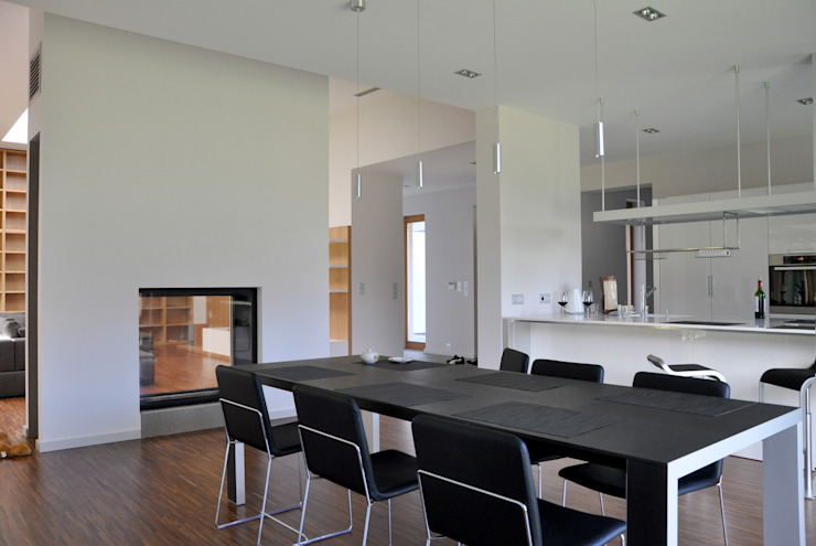 Phòng ăn theo OPEN architekci, Hiện đại