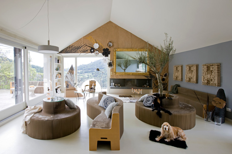 ECOchic Salones de estilo moderno de BARASONA Diseño y Comunicacion Moderno