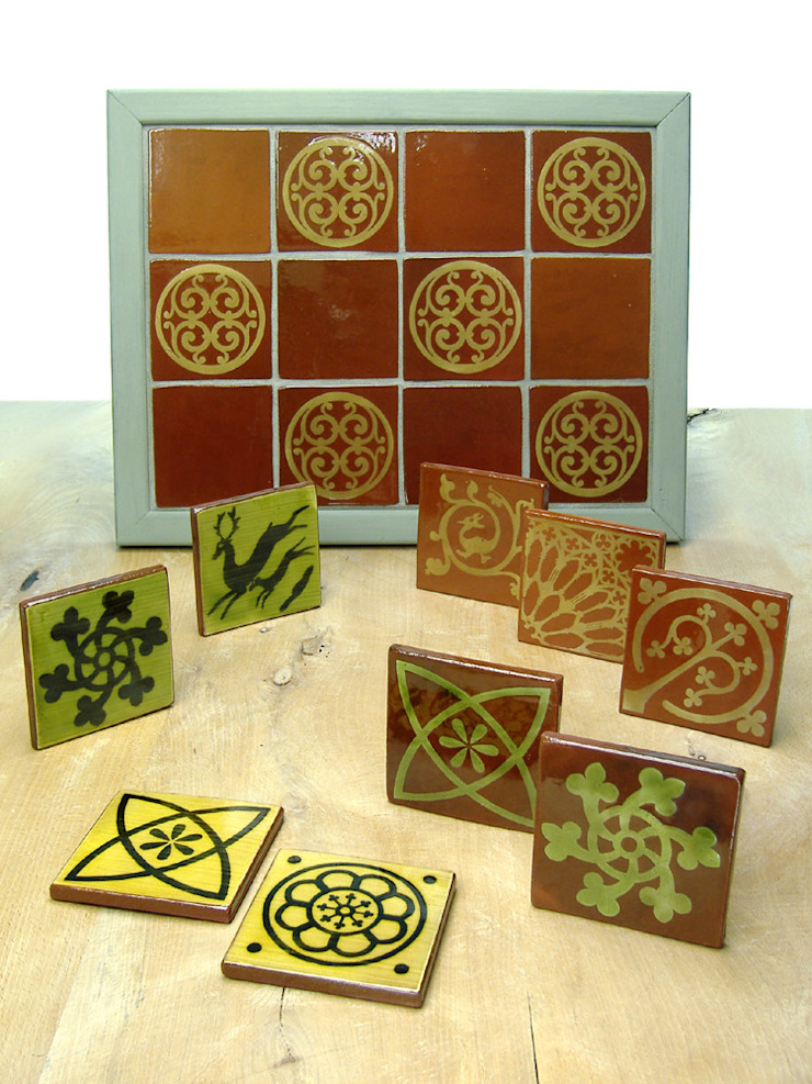 Traditional Range of Earthenware Tiles: rustic  by Deiniol Williams Ceramics, Rustic Ceramic