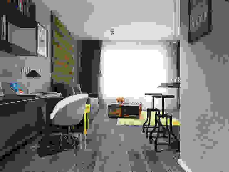 Loft для холостяка Гостиная в стиле лофт от Дизайн-бюро № 11 Лофт