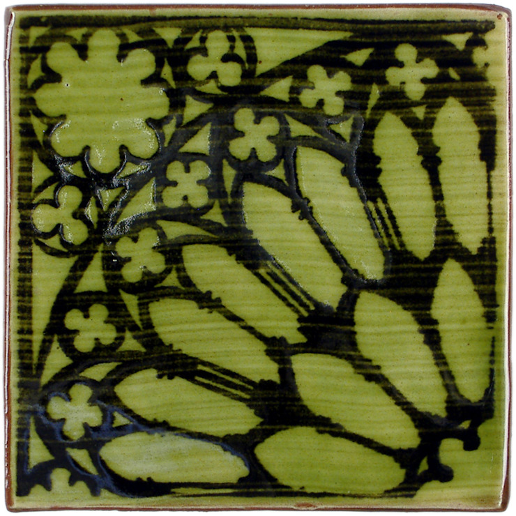 Rose Window Pattern Tile: rustic  by Deiniol Williams Ceramics, Rustic Ceramic