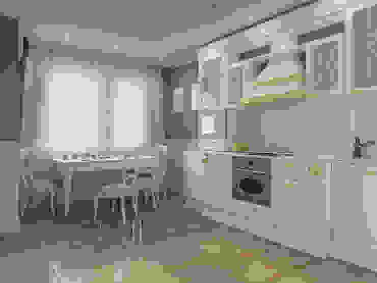 Квартира-гарсоньерка Кухни в эклектичном стиле от Дизайн-бюро № 11 Эклектичный