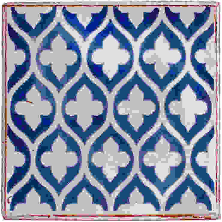 Reticulated Tracery Pattern in Cobalt Blue Deiniol Williams Ceramics 牆壁與地板磁磚 陶器