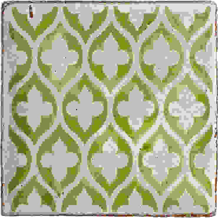 Reticulated Tracery Pattern in Spring Green Deiniol Williams Ceramics 牆壁與地板磁磚 陶器