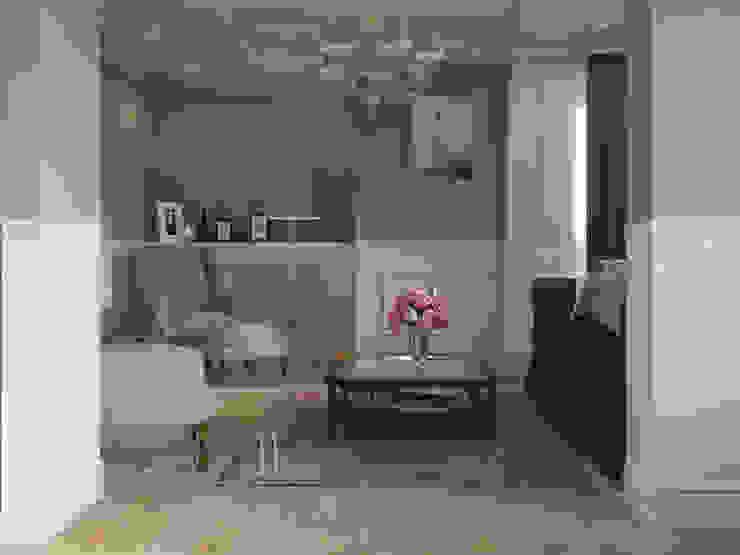 Квартира-гарсоньерка Гостиные в эклектичном стиле от Дизайн-бюро № 11 Эклектичный