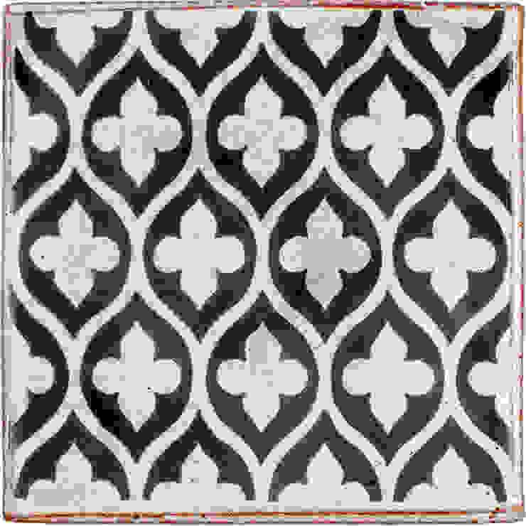Reticulated Pattern in Dark Grey Deiniol Williams Ceramics 牆壁與地板磁磚 陶器