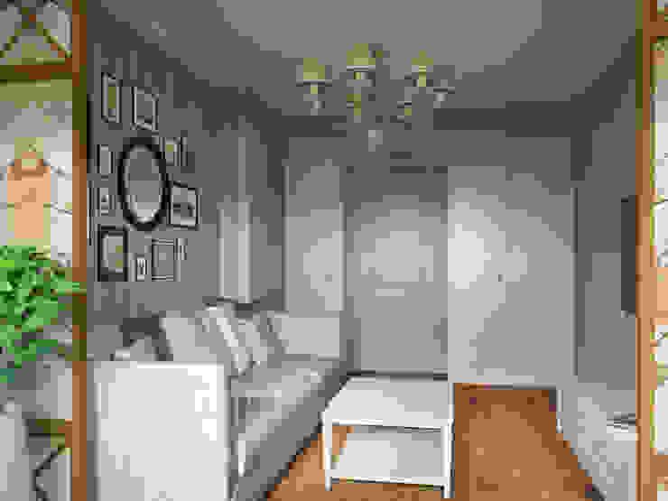 Квартира-гарсоньерка Рабочий кабинет в эклектичном стиле от Дизайн-бюро № 11 Эклектичный