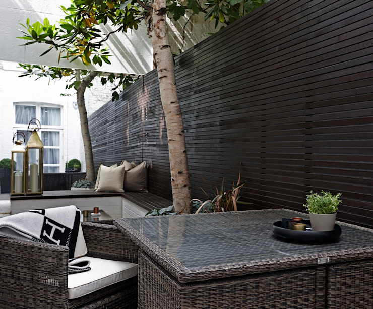 Hans Road Knightsbridge Balkon, Beranda & Teras Modern Oleh Boscolo Modern