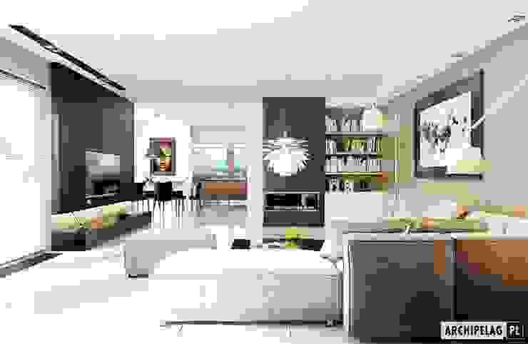 Pracownia Projektowa ARCHIPELAG Ruang Keluarga Modern