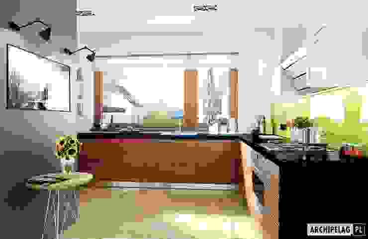 Pracownia Projektowa ARCHIPELAG Moderne keukens
