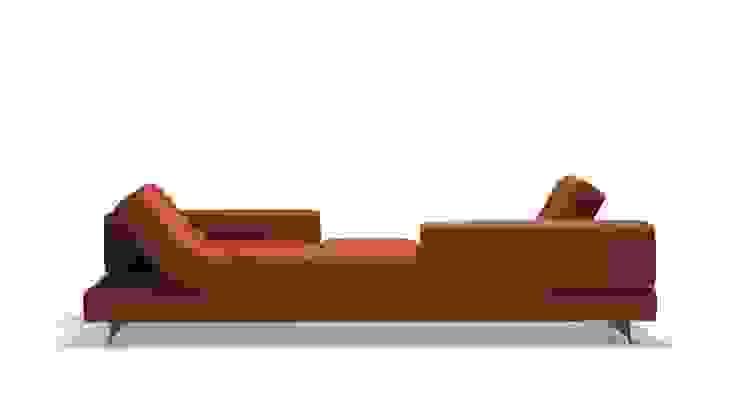 di Design Lounge Hinke Wien Minimalista Tessuti Ambra/Oro