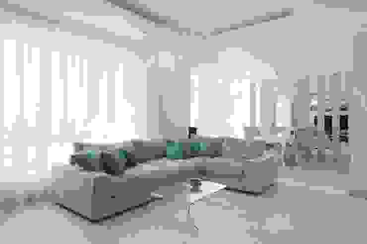 Современный интерьер Гостиная в стиле минимализм от Мастерская дизайна Минимализм