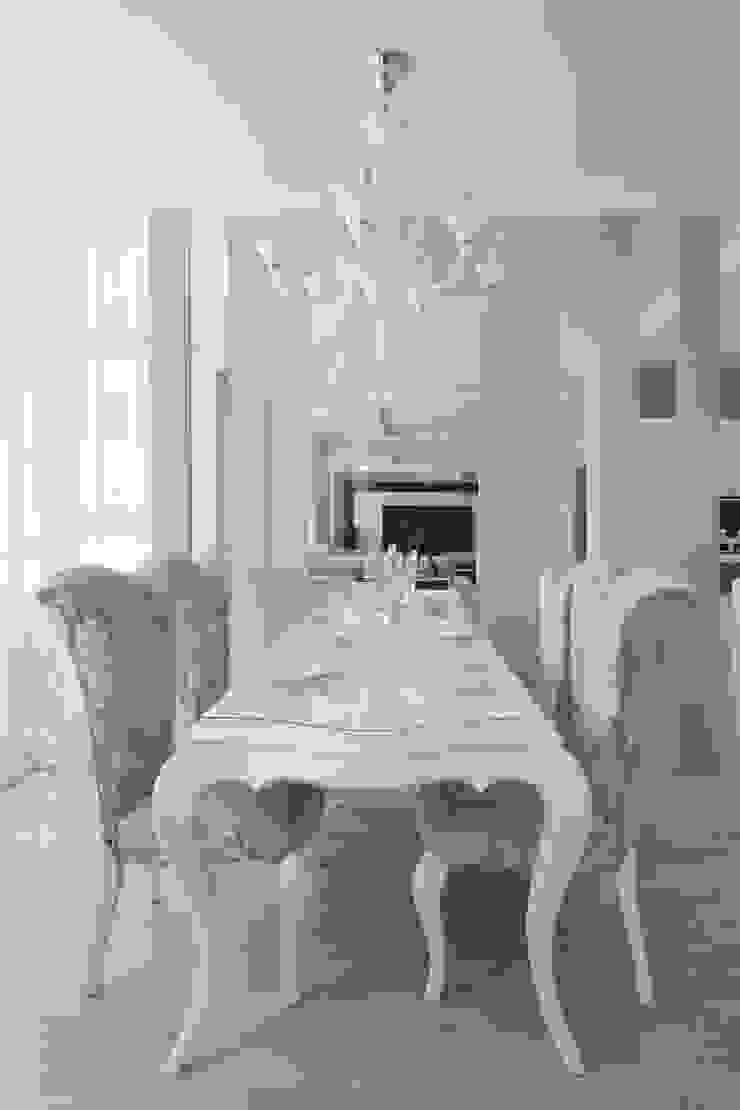 Современный интерьер Столовая комната в стиле минимализм от Мастерская дизайна Минимализм
