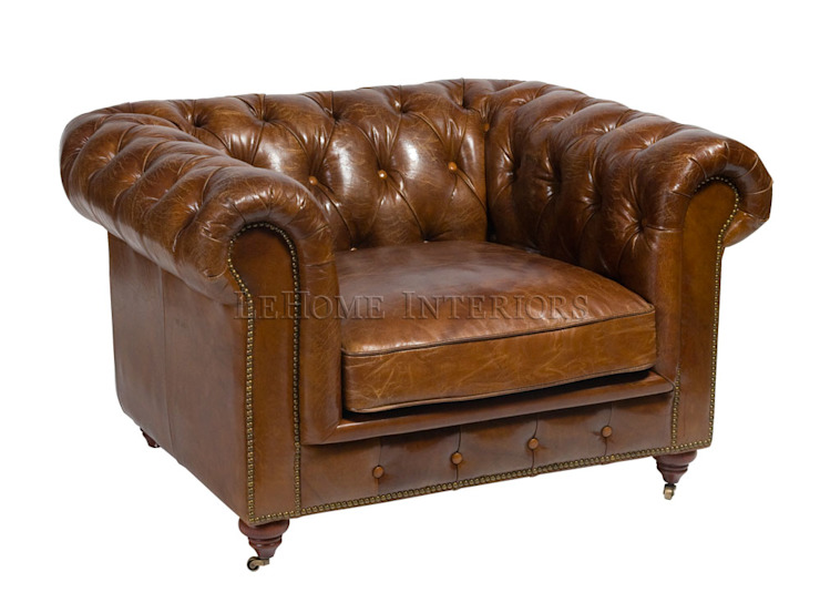 Кресло Chesterfield A090 от LeHome Interiors Классический Дерево Эффект древесины