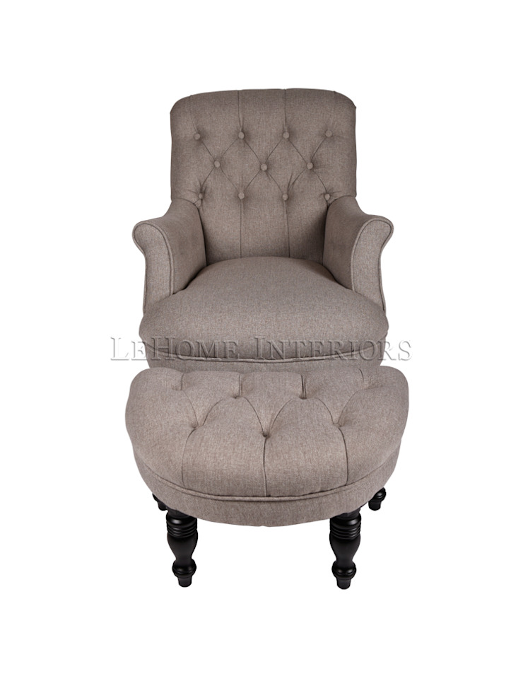 Кресло Dorset Armchair with puff A046+A047 от LeHome Interiors Классический Дерево Эффект древесины