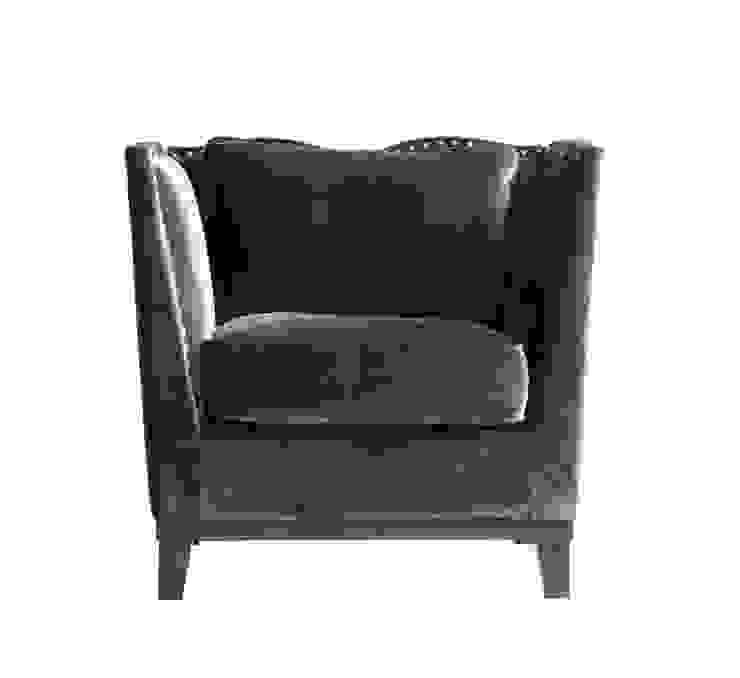 Fabrice Velvet Armchair A015 от LeHome Interiors Классический Дерево Эффект древесины