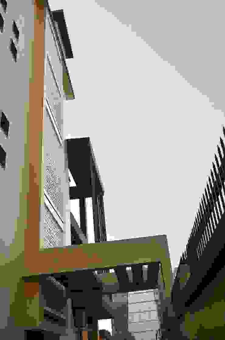 Elevation- Natural Ventilation Minimalist office buildings by Chaukor Studio Minimalist
