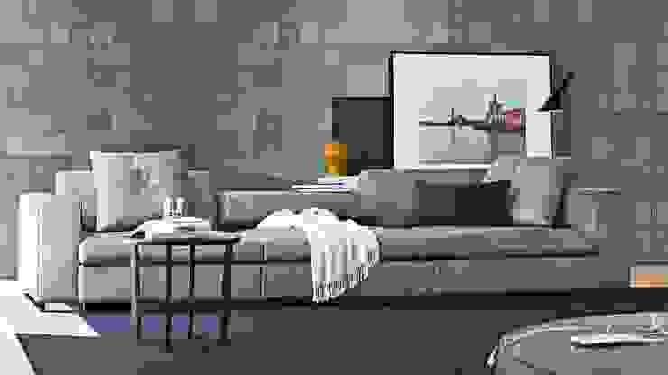 Design Lounge Hinke Wien: modern tarz , Modern Deri Gri