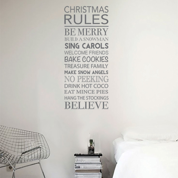 Christmas rules decoration wall stickers:  Walls & flooring by Vinyl Impression