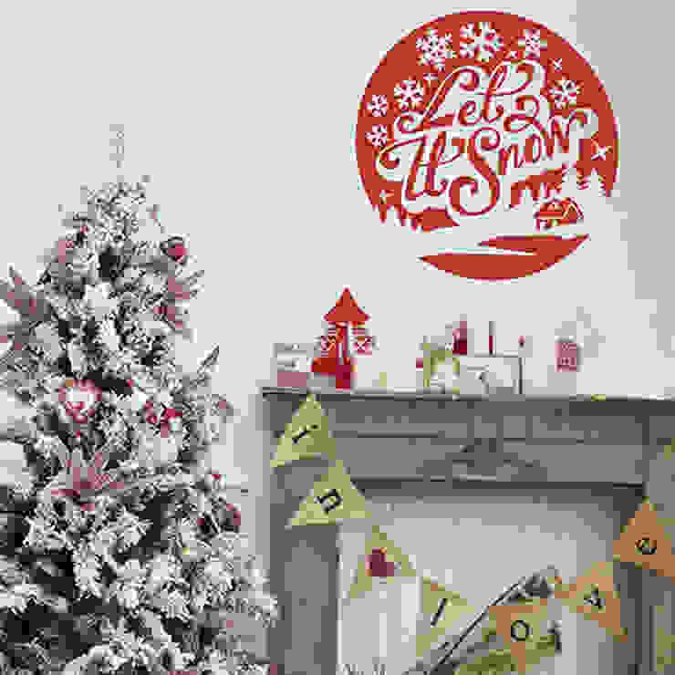 Let it snow christmas decoration wall sticker par Vinyl Impression Moderne