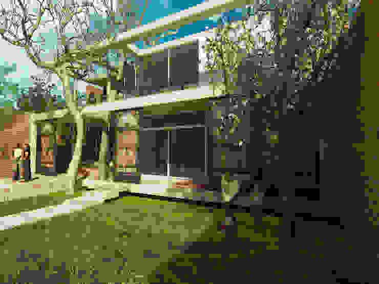 Nowoczesne domy od Rr+a bureau de arquitectos - La Plata Nowoczesny