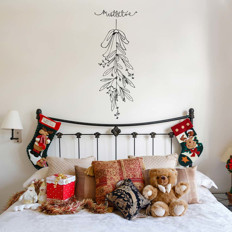 Mistletoe Christmas decoration wall sticker di Vinyl Impression Moderno