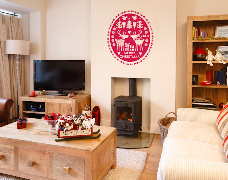 Reindeers in jumpers Christmas decoration wall sticker Vinyl Impression Walls & flooringWall tattoos