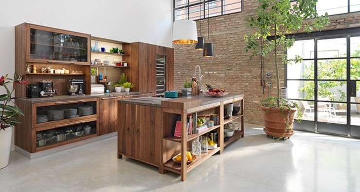 por Design Lounge Hinke Wien Rústico Madeira Acabamento em madeira