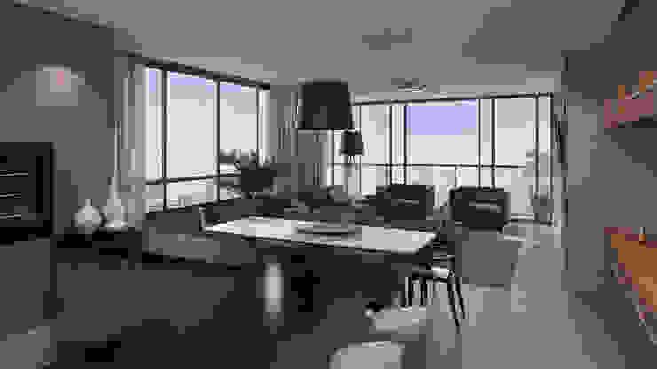 Estar / Jantar Salas de estar modernas por André Petracco Arquitetura Moderno